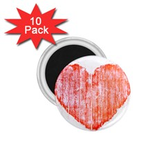 Pop Art Style Grunge Graphic Heart 1.75  Magnets (10 pack)