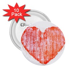 Pop Art Style Grunge Graphic Heart 2.25  Buttons (10 pack)
