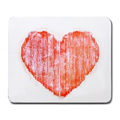 Pop Art Style Grunge Graphic Heart Large Mousepads
