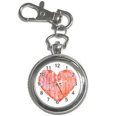Pop Art Style Grunge Graphic Heart Key Chain Watches