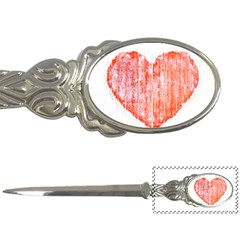 Pop Art Style Grunge Graphic Heart Letter Openers