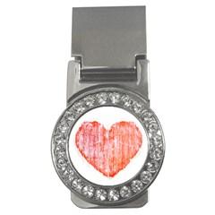 Pop Art Style Grunge Graphic Heart Money Clips (CZ)