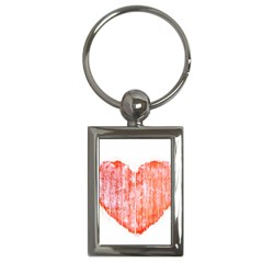 Pop Art Style Grunge Graphic Heart Key Chains (Rectangle)