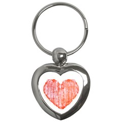 Pop Art Style Grunge Graphic Heart Key Chains (Heart)