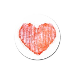 Pop Art Style Grunge Graphic Heart Magnet 3  (Round)