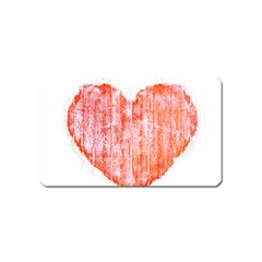 Pop Art Style Grunge Graphic Heart Magnet (Name Card)