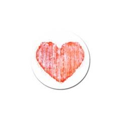 Pop Art Style Grunge Graphic Heart Golf Ball Marker