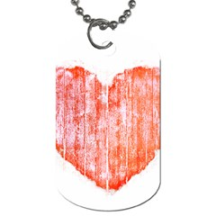 Pop Art Style Grunge Graphic Heart Dog Tag (Two Sides)