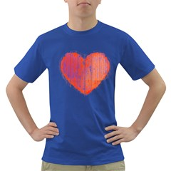 Pop Art Style Grunge Graphic Heart Dark T-Shirt