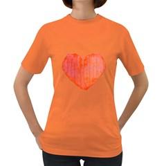 Pop Art Style Grunge Graphic Heart Women s Dark T-Shirt