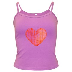 Pop Art Style Grunge Graphic Heart Dark Spaghetti Tank
