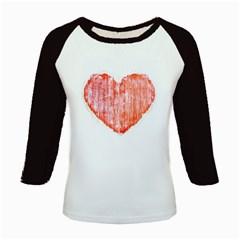 Pop Art Style Grunge Graphic Heart Kids Baseball Jerseys