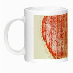 Pop Art Style Grunge Graphic Heart Night Luminous Mugs