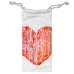 Pop Art Style Grunge Graphic Heart Jewelry Bag