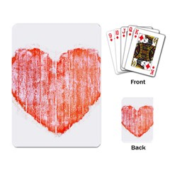 Pop Art Style Grunge Graphic Heart Playing Card