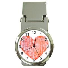 Pop Art Style Grunge Graphic Heart Money Clip Watches