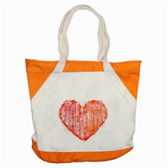 Pop Art Style Grunge Graphic Heart Accent Tote Bag