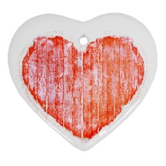 Pop Art Style Grunge Graphic Heart Heart Ornament (Two Sides)