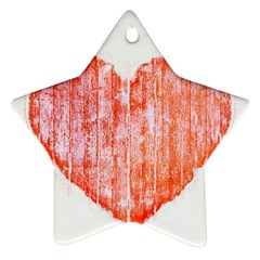 Pop Art Style Grunge Graphic Heart Star Ornament (Two Sides)