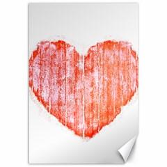 Pop Art Style Grunge Graphic Heart Canvas 12  x 18