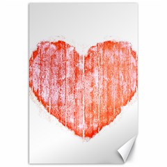 Pop Art Style Grunge Graphic Heart Canvas 20  x 30
