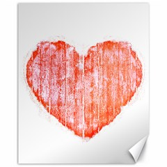 Pop Art Style Grunge Graphic Heart Canvas 11  x 14
