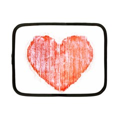 Pop Art Style Grunge Graphic Heart Netbook Case (Small)