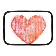 Pop Art Style Grunge Graphic Heart Netbook Case (Medium)
