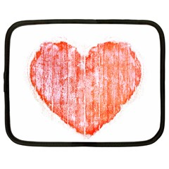 Pop Art Style Grunge Graphic Heart Netbook Case (Large)