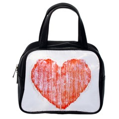 Pop Art Style Grunge Graphic Heart Classic Handbags (One Side)