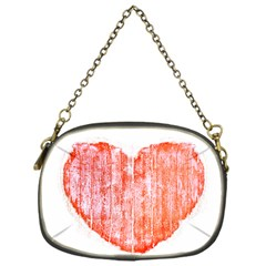 Pop Art Style Grunge Graphic Heart Chain Purses (One Side)