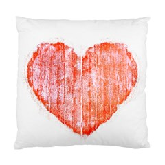 Pop Art Style Grunge Graphic Heart Standard Cushion Case (Two Sides)