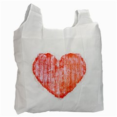Pop Art Style Grunge Graphic Heart Recycle Bag (Two Side)