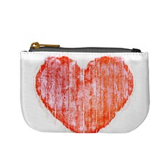 Pop Art Style Grunge Graphic Heart Mini Coin Purses