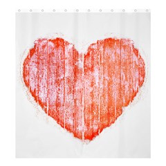 Pop Art Style Grunge Graphic Heart Shower Curtain 66  x 72  (Large)