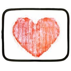 Pop Art Style Grunge Graphic Heart Netbook Case (XXL)