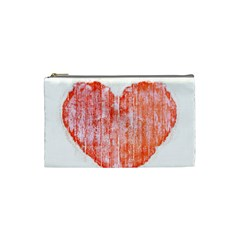 Pop Art Style Grunge Graphic Heart Cosmetic Bag (Small)