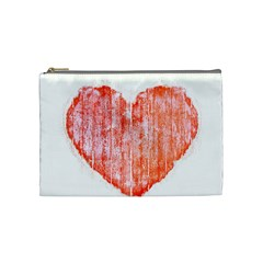 Pop Art Style Grunge Graphic Heart Cosmetic Bag (Medium)