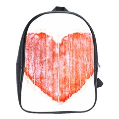 Pop Art Style Grunge Graphic Heart School Bags(Large)