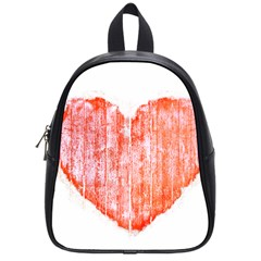 Pop Art Style Grunge Graphic Heart School Bags (Small)