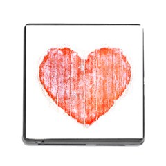 Pop Art Style Grunge Graphic Heart Memory Card Reader (Square)