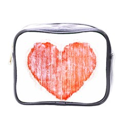Pop Art Style Grunge Graphic Heart Mini Toiletries Bags