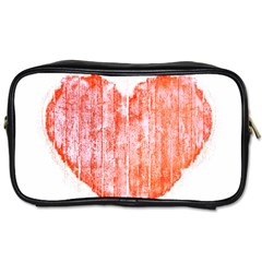 Pop Art Style Grunge Graphic Heart Toiletries Bags 2-Side