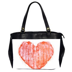 Pop Art Style Grunge Graphic Heart Office Handbags (2 Sides)