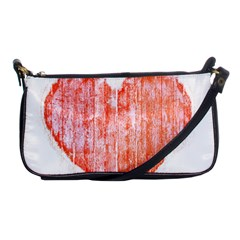 Pop Art Style Grunge Graphic Heart Shoulder Clutch Bags