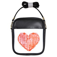 Pop Art Style Grunge Graphic Heart Girls Sling Bags