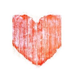 Pop Art Style Grunge Graphic Heart 5.5  x 8.5  Notebooks