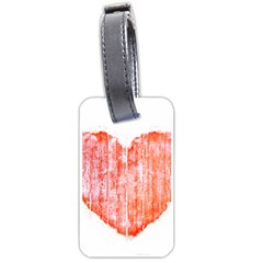 Pop Art Style Grunge Graphic Heart Luggage Tags (One Side)