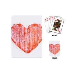 Pop Art Style Grunge Graphic Heart Playing Cards (Mini)