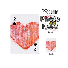 Pop Art Style Grunge Graphic Heart Playing Cards 54 (Mini)